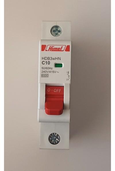Himel 1*10A C Tipi 6ka Otomatik SIGORTA-HDB3WHN1C10
