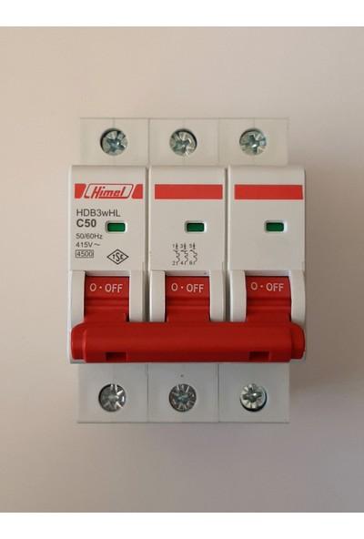 Himel 3*50A C Tipi 4,5ka Otomatik SIGORTA-HDB3WHL3C50