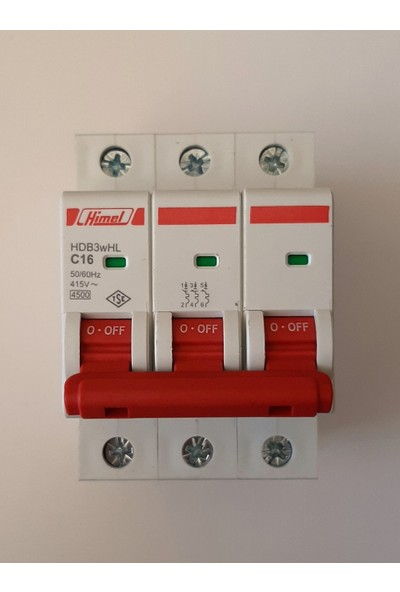 Himel 3*16A C Tipi 4,5ka Otomatik SIGORTA-HDB3WHL3C16