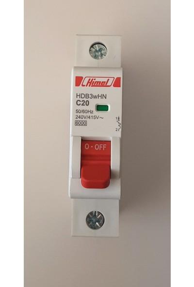 Himel 1*20A C Tipi 6ka Otomatik SIGORTA-HDB3WHN1C20