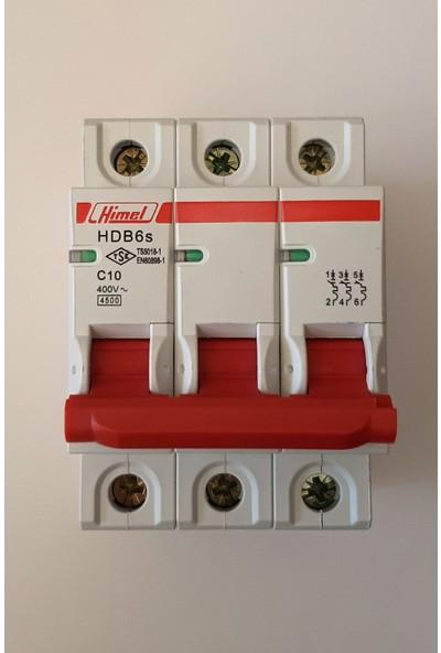 Himel 3*10A C Tipi 4,5ka Otomatik SIGORTA-HDB6SL3C10