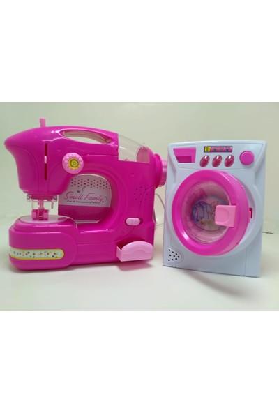 Emr Oyuncak Sesli Işıklı Oyuncak Dikiş ve Çamaşır Makinesi