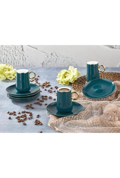 Aryıldız Prestige Yeşil 6 Kişilik Kahve Fincan Takımı