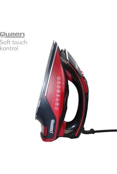 Queen Brighton QUB-400 Şok Buharlı Elektronik Ütü Kırmızı