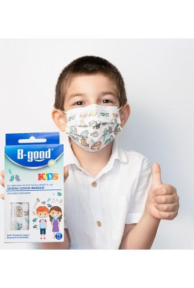 B-Good Kids Desenli Çocuk Maskesi 10'lu
