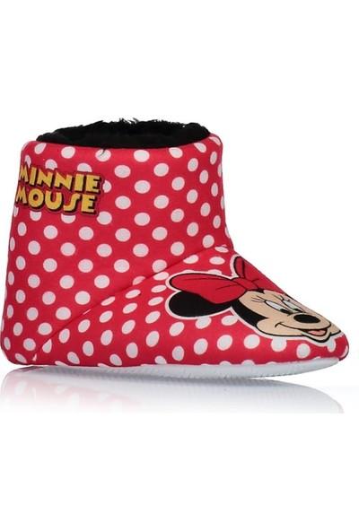 Minnie Mouse Kız Çocuk Kırmızı Ev Botu Panduf