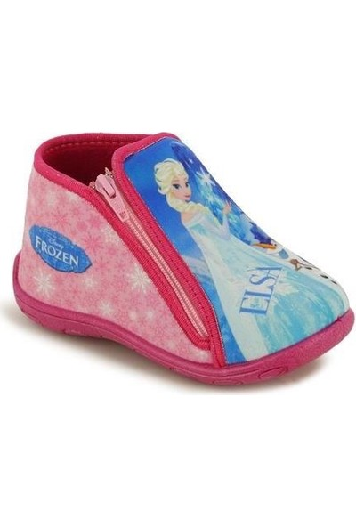 Frozen Elsa Kız Çocuk Fuşya Panduf