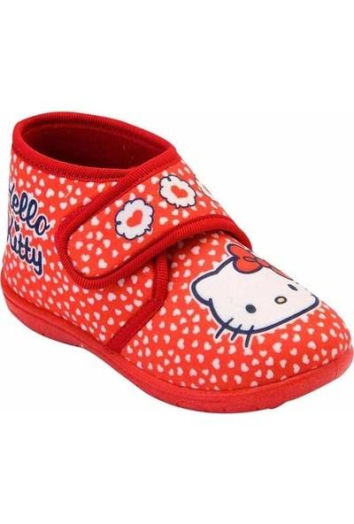 Hello Kitty Kız Çocuk Kırmızı Panduf