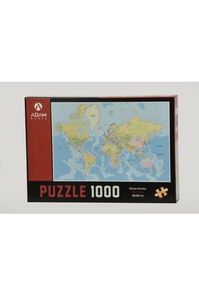 Adam Games Dünya Haritası 1000 Parça Puzzle