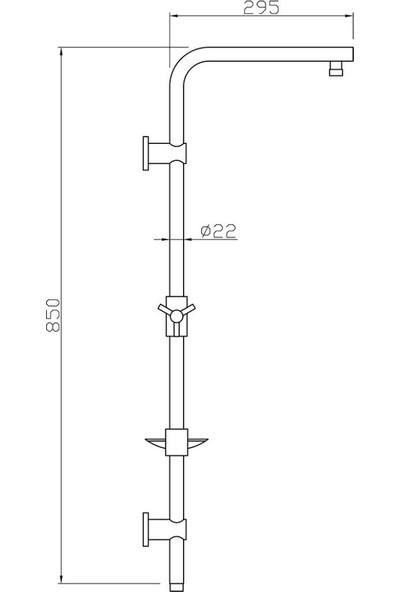 Tema Yeni Hill Slim (Ince) Tepe Duş Robot Seti Takımı (53135)