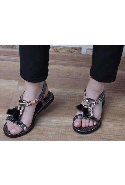 Pierre Cardin Kadın Taşlı Sandalet (PC-6521)