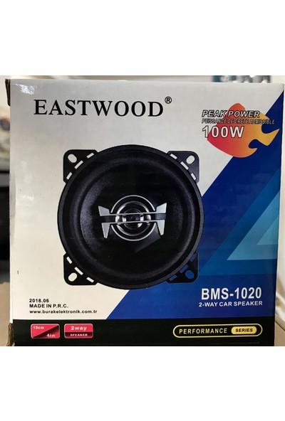 Eastwood BMS-1020 Tweeter'lı Max Power 100W 10 cm Oto Hoparlör Tekli Üründür