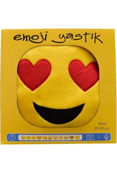 Favore Casa Nakış Işlemeli Kalp Gözlü Emoji Yastık