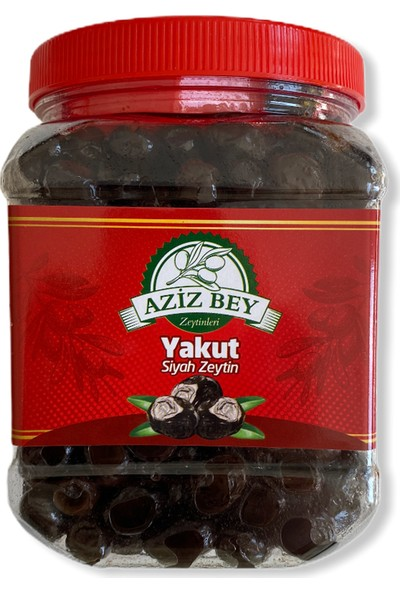 Azizbey Zeytinleri Yakut Salamura Gemlik Siyah Zeytin - 1 kg