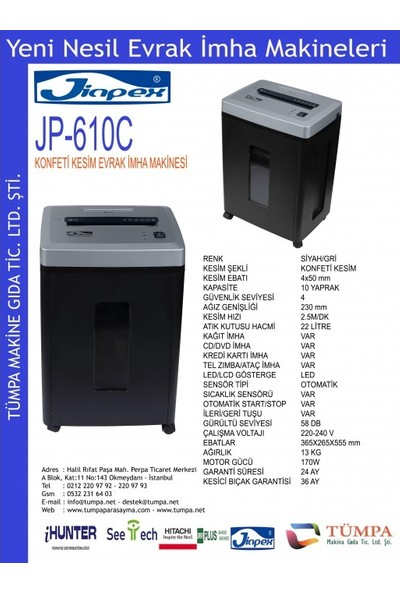 Jinpex JP-610 C Ofis Tipi Evrak Imha Makinesi