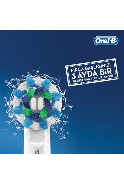 Oral-B Starter Pack Cross Action Elektrikli Diş Fırçası + Yedek Başlık