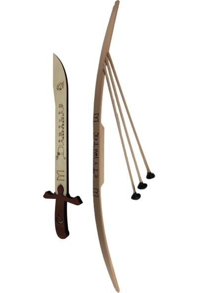 Ahtek Ahşap Oyuncak Kılıç ve Ok Yay Seti