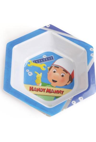 Trudeau Çocuk Yemek Takımı Seti Tabak Kase Bardak Çatal Kaşık Disney Tamirci Manny