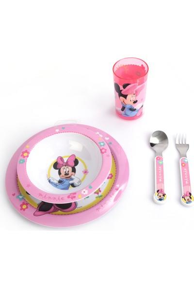 Trudeau Çocuk Yemek Takımı Seti Tabak Kase Bardak Çatal Kaşık Disney Minnie Mouse
