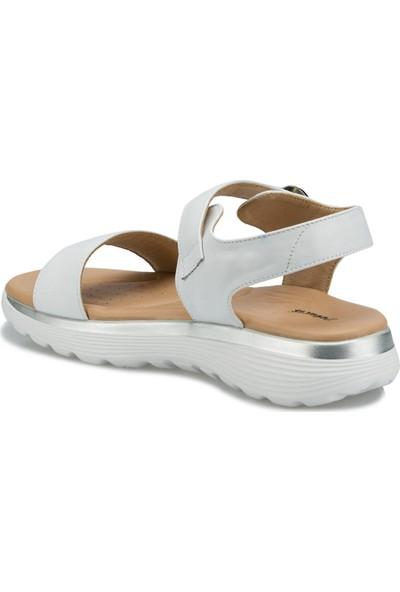 Travel Soft TRV1675.Z Beyaz Kadın Sandalet