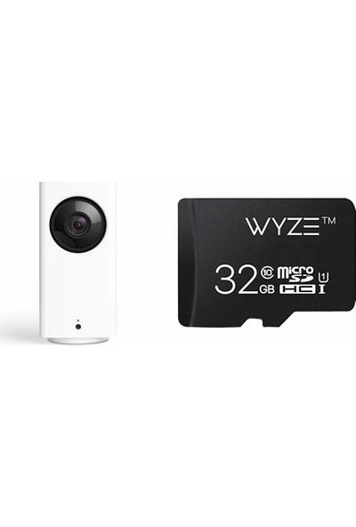 Wyze Cam Pan Wyzecp1 1080P Wi-Fi Asistan Destekli Akıllı Kamera + 32GB Hafıza Kartı