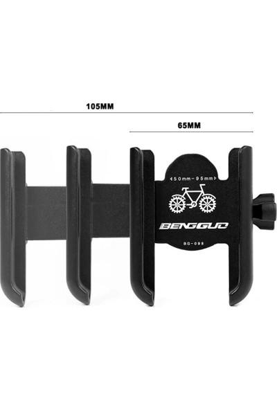 Knmaster Alüminyum Gövdeli Ayna Bağlantılı Motosiklet Bisiklet Açık Telefon Tutucu