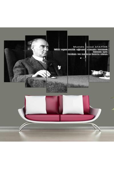Atölye Hanem 5 Parça Atatürk Tablo