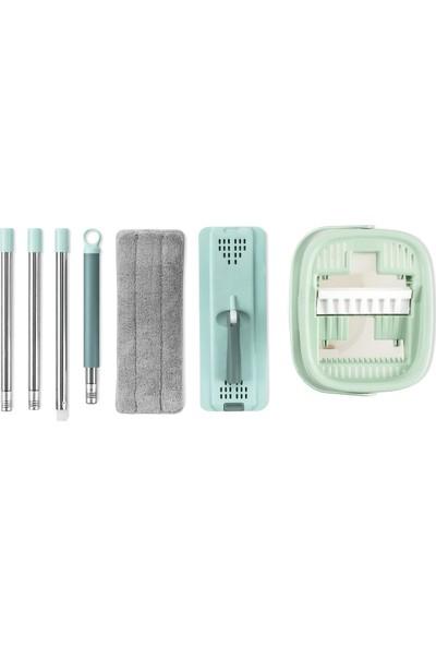 Urve Mikrofiber Flat Tablet Mop 4 Bezli Temizlik Seti - Yeşil