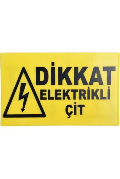Tarım Garaj Elektrikli Çit Için Uyarı Işareti - Türkçe