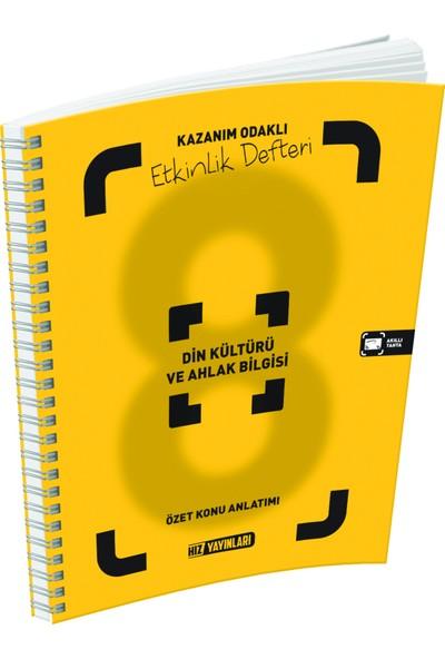 Hız Yayınları 8. Sınıf Din Kültürü ve Ahlak Bilgisi Özet Konu Anlatımlı Etkinlik Defteri