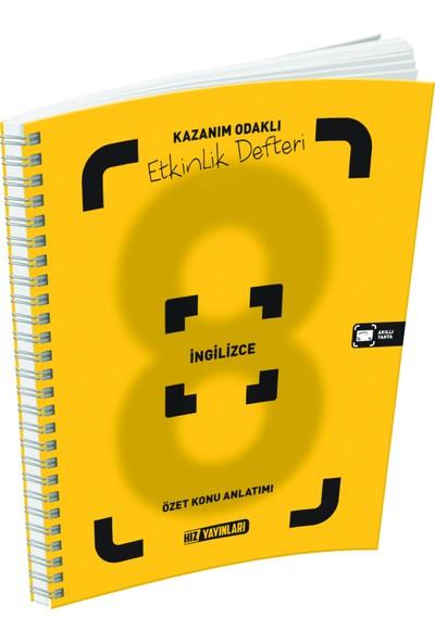 Hız Yayınları 8. Sınıf İngilizce Özet Konu Anlatımlı Etkinlik Defteri