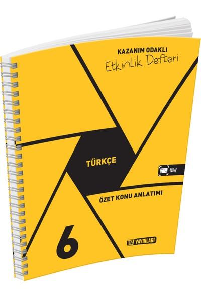 Hız Yayınları 6.Sınıf Türkçe Özet Konu Anlatımlı Etkinlik Defteri