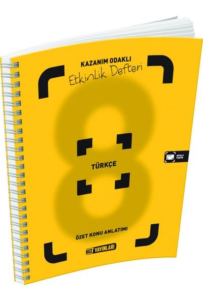 Hız Yayınları 8. Sınıf Türkçe Özet Konu Anlatımlı Etkinlik Defteri