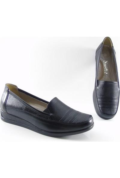 Norfix Deri Iç Astarlı Anatomik Kadın Ayakkabı 330 - Siyah
