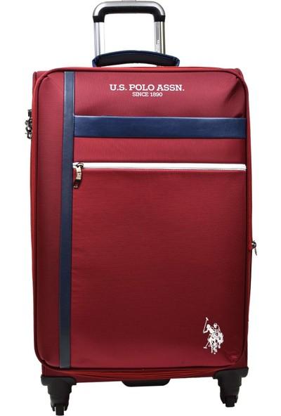 U.S. Polo Assn. Bordo Kumaş 2'li Valiz Seti Büyük Boy - Kabin Boy