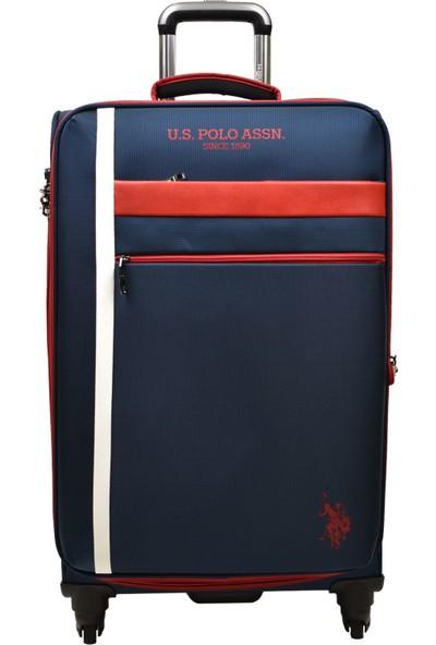 U.S. Polo Assn. Lacivert Kumaş 2'li Valiz Seti Orta Boy - Kabin Boy