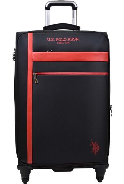 U.S. Polo Assn. Siyah Kumaş 2'li Valiz Seti Orta Boy - Kabin Boy