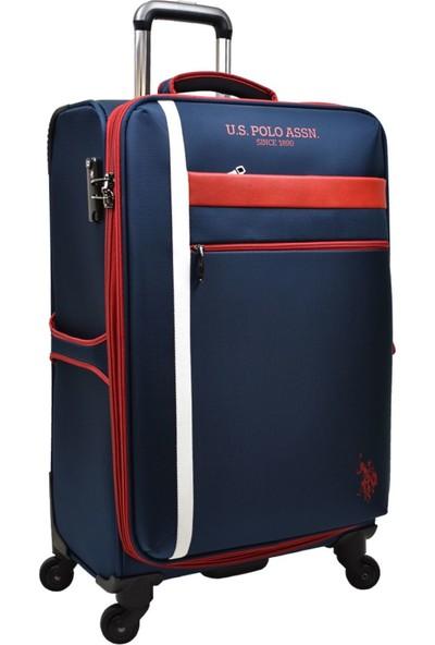 U.S. Polo Assn. Valiz Büyük Boy Lacivert Kumaş Valiz