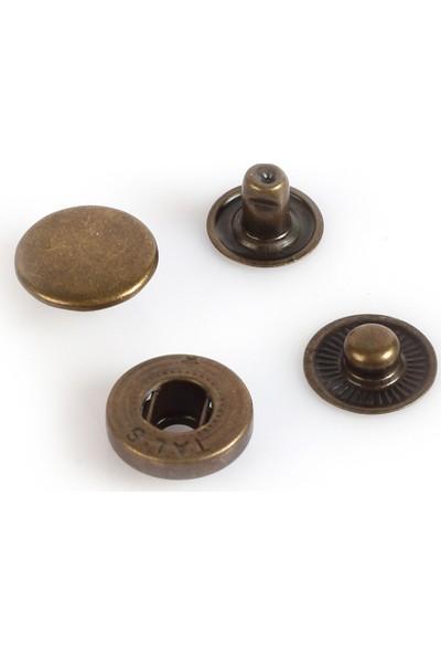 Koza Antik Renk Mont Çıtçıt 15 mm 100'lü