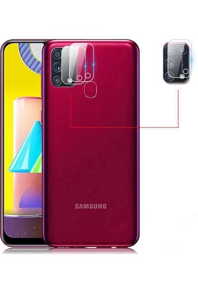 Gpack Samsung Galaxy M31 Kamera Lens Koruyucu Nano Koruyucu Şeffaf