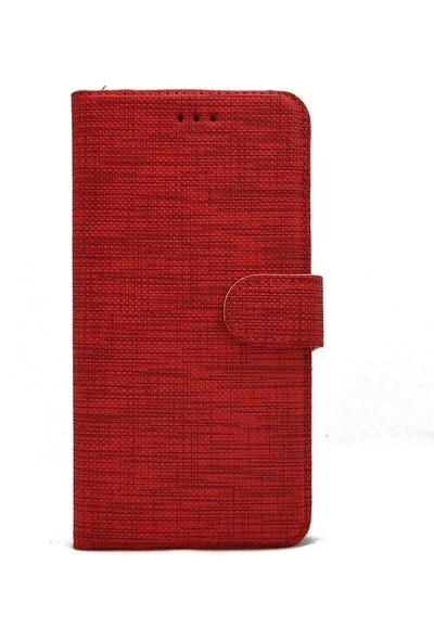 Gpack Huawei Y5P Kılıf Standlı Kartvizitli Exclusive Spor Cüzdan Kırmızı
