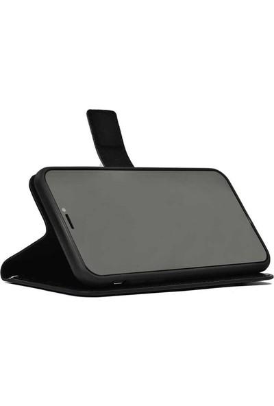 Gpack General Mobile Gm 10 Kılıf LocaL Cüzdan Standlı Kartvizitli Siyah