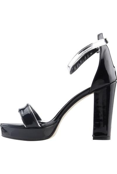 Ayakland 1605-1166 Günlük 10 cm Topuk Kadın Cilt Klasik Ayakkabı