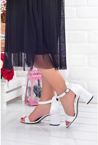 Ayakland 2013-05 Çatlak 7 cm Topuk Kadın Sandalet Ayakkabı