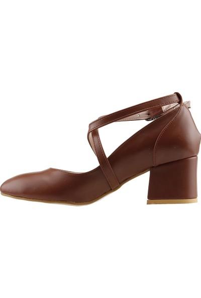 Ayakland 544-1121 Cilt 5 cm Topuk Kadın Sandalet Ayakkabı