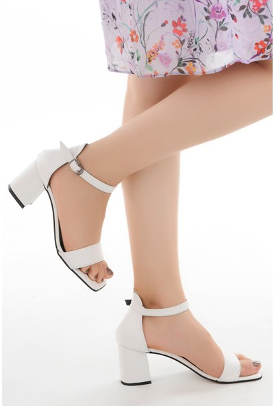 Ayakland 6470-05 Cilt 7 cm Topuk Kadın Sandalet Ayakkabı