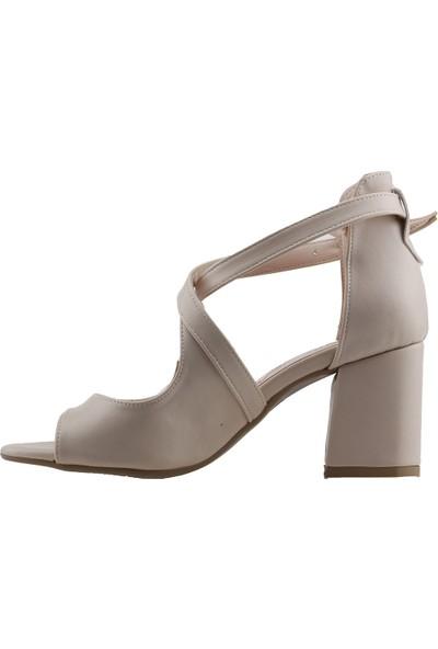 Ayakland 811-262 Cilt 7 cm Topuk Kadın Sandalet Ayakkabı