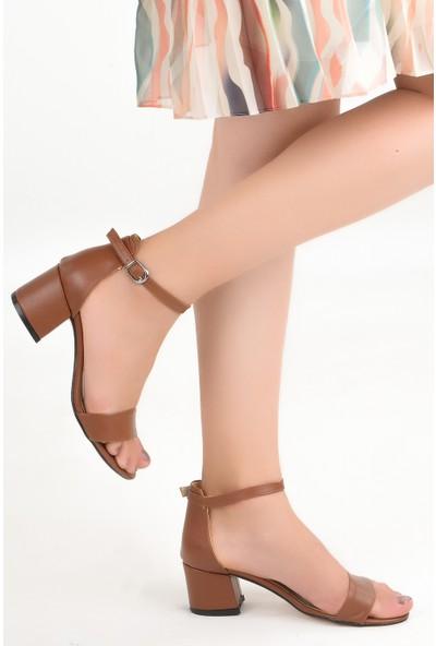 Ayakland Bsm 62 Cilt 5 cm Topuk Kadın Sandalet Ayakkabı