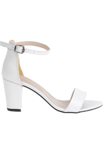 Ayakland Bsm 62 Cilt 7 cm Topuk Kadın Sandalet Ayakkabı