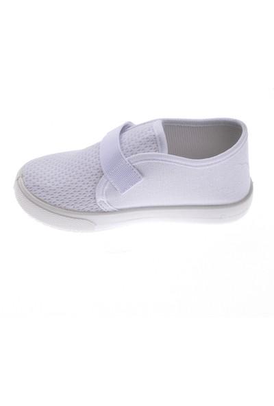 Sanbe 401 R 004 Anatomik Erkek Çocuk Keten Ayakkabı Beyaz